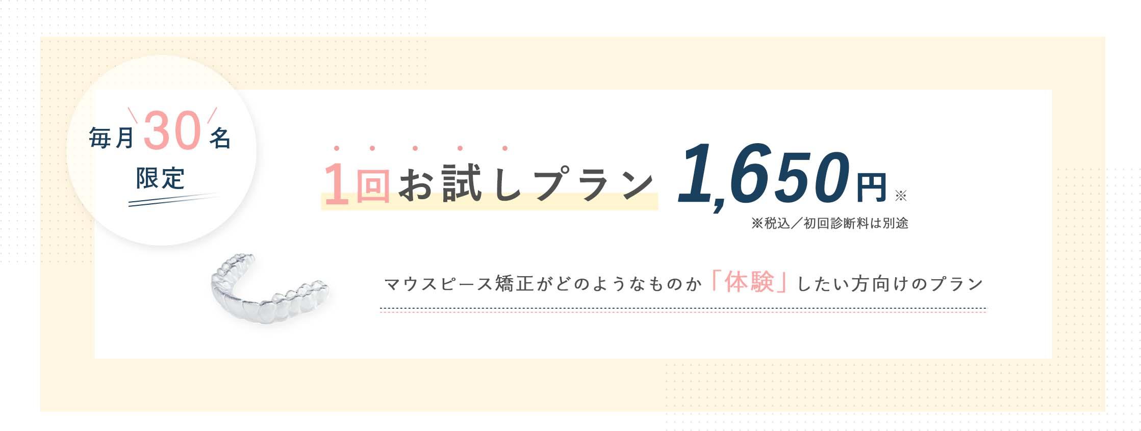 1回お試しプラン1,650円